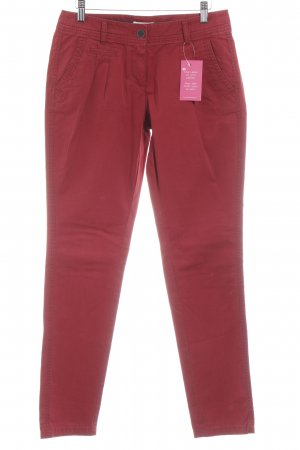 s.Oliver Pleated Trousers dark red casual look