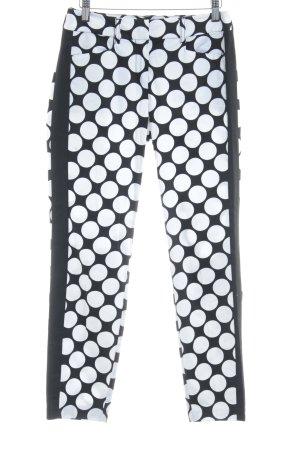 s.Oliver Pantalon à pinces noir-blanc motif de tache style d'affaires