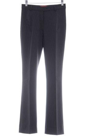 s.Oliver Pantalon à pinces noir-blanc motif rayé style d'affaires