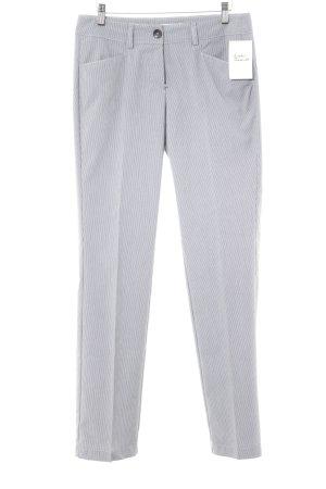 s.Oliver Pantalon à pinces blanc-bleu foncé motif rayé style d'affaires