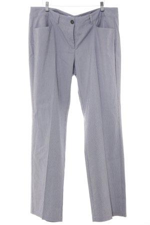 s.Oliver Bundfaltenhose weiß-graublau Streifenmuster Business-Look