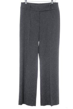 s.Oliver Pantalon à pinces blanc-noir motif en zigzag style d'affaires
