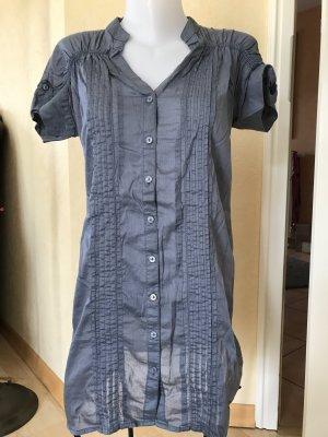 s.Oliver by Qs Long Bluse Kleid Gr 40 Blau Grau