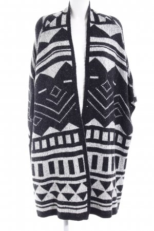 s.Oliver Cape black-white abstract pattern Aztec print