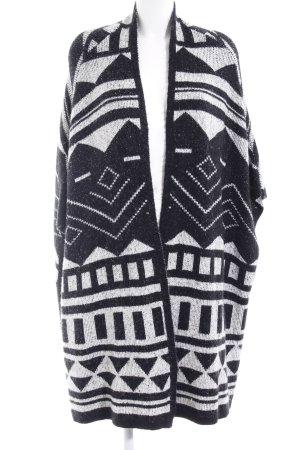 s.Oliver Cape schwarz-weiß abstraktes Muster Ethno-Look