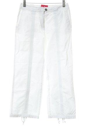 s.Oliver Pantalone Capri bianco-argento stile casual