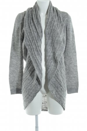 s.Oliver Cardigan grau Zopfmuster Casual-Look