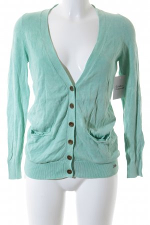s.Oliver Cardigan mint Batikmuster Casual-Look