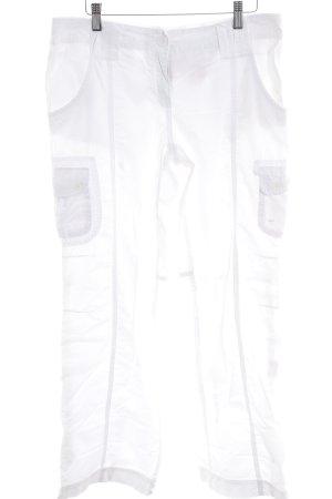 s.Oliver Pantalone cargo bianco stile casual