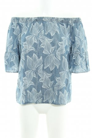s.Oliver Carmen Shirt cornflower blue-white floral pattern casual look