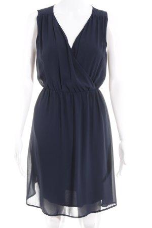 s.Oliver Chiffon jurk donkerblauw elegant