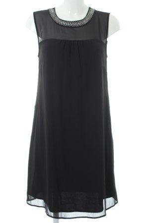 s.Oliver Chiffonkleid schwarz-silberfarben Elegant
