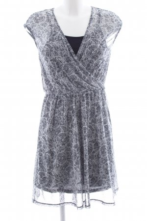 s.Oliver Chiffon Dress black-white allover print casual look