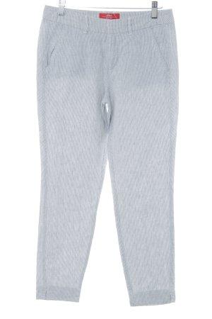s.Oliver Chino grijs-wit gestreept patroon klassieke stijl