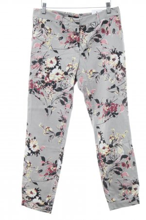 s.Oliver Chinohose hellgrau florales Muster Casual-Look