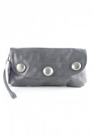 s.Oliver Clutch grau Glanz-Optik