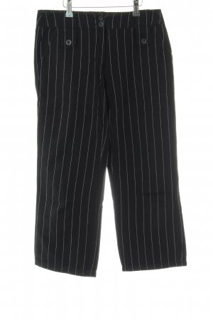 s.Oliver Corduroy Trousers black-white striped pattern business style