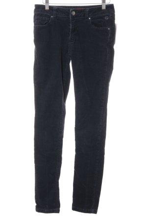 s.Oliver Pantalone di velluto a coste blu scuro stile casual