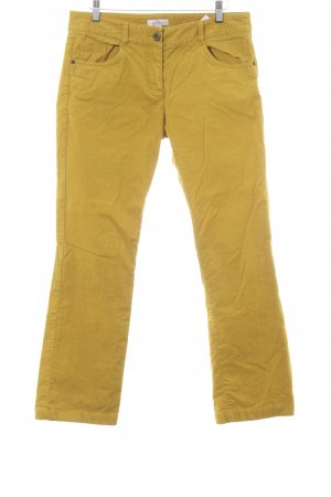 s.Oliver Cordhose dunkelgelb Casual-Look