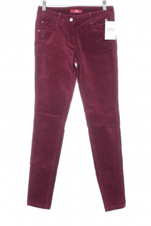 s.Oliver Cordhose purpur Casual-Look