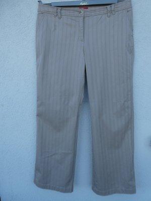 s.Oliver – Damen-Hose, beige mit Struktur - Gebraucht