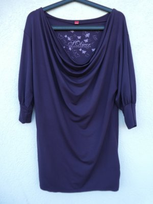 s.Oliver Cowl-Neck Shirt dark violet viscose