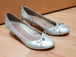 s'oliver Damen Pumps Absatzschuhe silber metallic Gr. 39 Höhe 5,5 cm