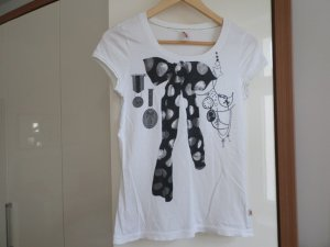 s.Oliver Damen T-Shirt Einfarbig, Weiß( white placed print )