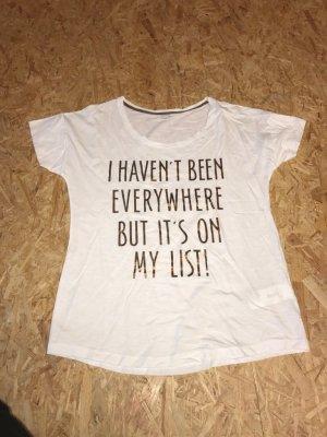 """""""s.Oliver""""  Damen T- Shirt, Gr.38, weiss/ Print"""