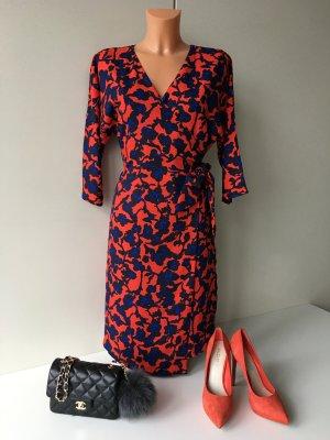 S.Oliver Damen Wickelkleid Sommerkleid Abendkleid Gr. 40 geblümt