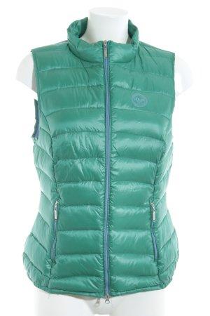s.Oliver Donsvest groen-korenblauw quilten patroon atletische stijl