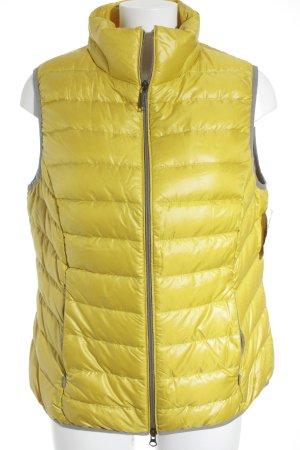 s.Oliver Gilet en duvet jaune-argenté motif de courtepointe style décontracté
