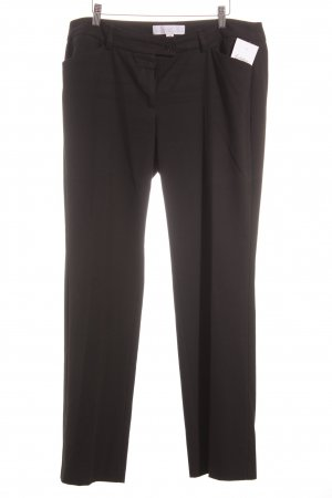 s.Oliver Denim Pleated Trousers black classic style