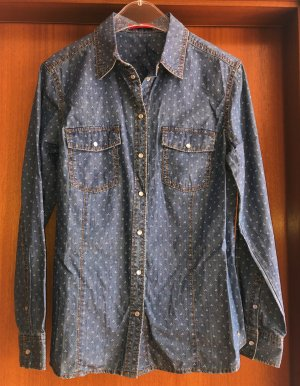 s.Oliver Denim Jeans Bluse Hemd 40 Neu