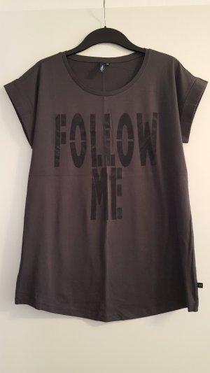 S.Oliver Denim Longshirt, Aufschrift Follow me, Gr. XXL
