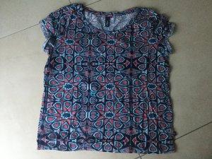 S.Oliver Denim Shirt / Top / Größe S blau rot Türkis bunt Neu und ungetragen