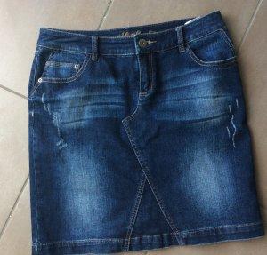 S. Oliver Denim Skirt Jeansrock dunkelblau Gr. 36