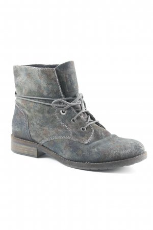 s.Oliver Desert Boots taupe-graubraun Camouflagemuster Military-Look