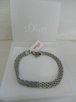 s.Oliver Bracelet silver-colored stainless steel