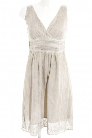 s.Oliver Empire Dress grey brown-cream batik pattern country style