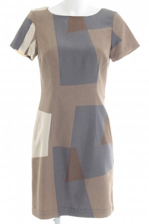 s.Oliver Sheath Dress beige-slate-gray abstract pattern business style