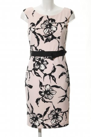 s.Oliver Etuikleid hellrosa-schwarz florales Muster Romantik-Look