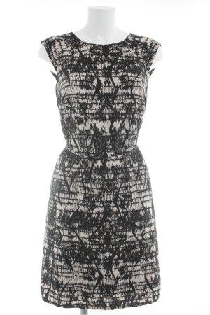 s.Oliver Etuikleid schwarz-creme abstraktes Muster klassischer Stil
