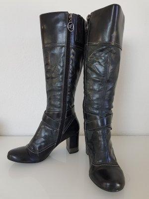 s.Oliver Jackboots black-dark grey leather