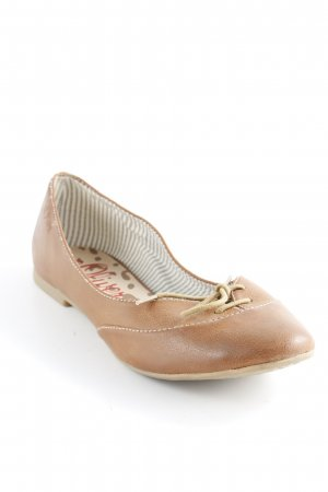 s.Oliver Ballerines pliables cognac style campagnard