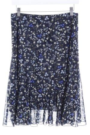 s.Oliver Faltenrock dunkelblau-grün Blumenmuster Casual-Look