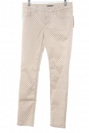 s.Oliver Five-Pocket-Hose beige-weiß grafisches Muster Casual-Look