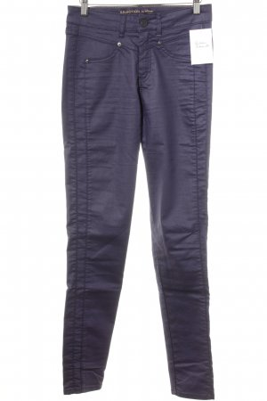 s.Oliver Pantalon cinq poches violet style décontracté
