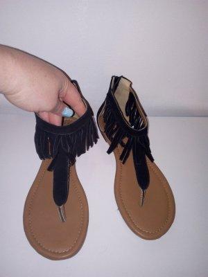 s.Oliver Toe-Post sandals black