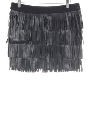 s.Oliver Jupe à franges noir style festif